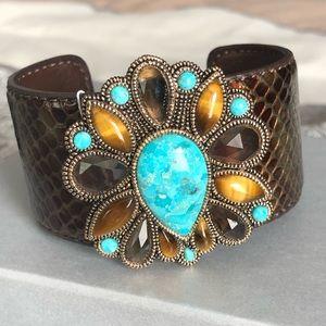 Barse Leather Cuff Bracelet NWT